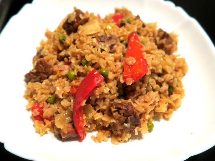 Smažená rýže s tempehem / Stir fry rice with tempeh