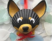 Dog Sea Shell Ornaments