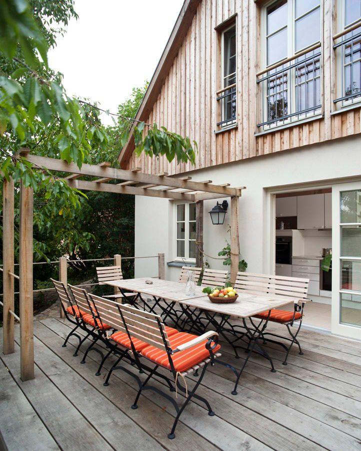 Terrasse: terrasse von wof-planungsgemeinschaft, landhaus