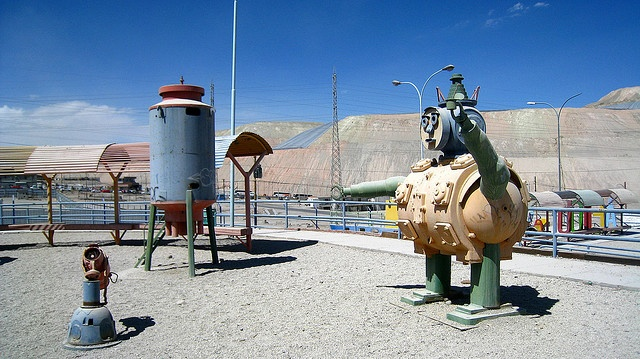 Chuquicamata, Northern Chile - playstructures/playground built in a former mining town.