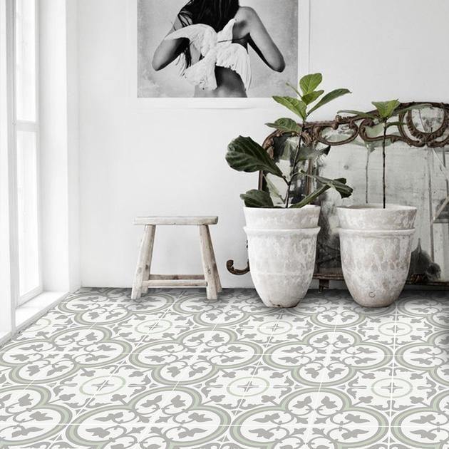 Trefle In Thistle Floor Sticker Vinyl Flooring Floor Decal Floor Stickers