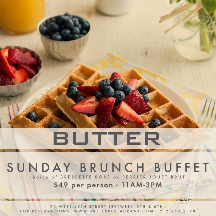 Sunday Brunch At Butter Midtown