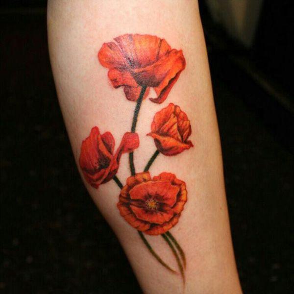 49 Poppies tatuaggio