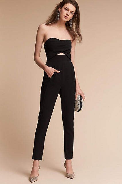 803b87d1853 Anthropologie Jada Jumpsuit. Part of a special collection from BHLDNThis  strapless jumpsuit makes a chic statement with its slim