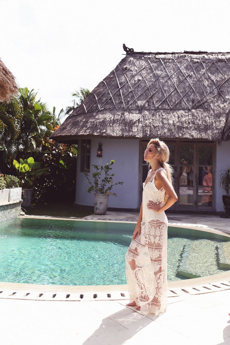 FOR LOVE & LEMONS - Maldives Crochet Maxi Dress - Ivory