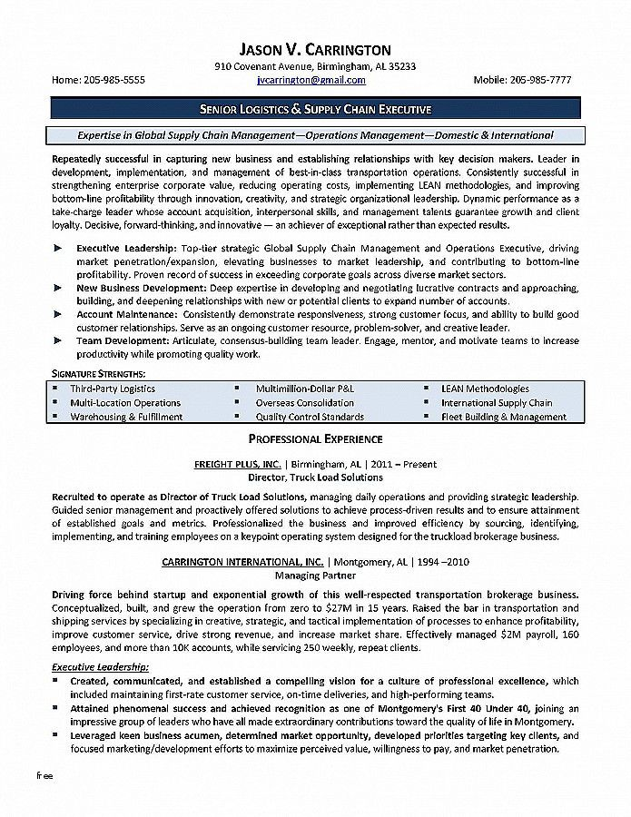 40 Finance Manager Resume Sample Gc2m Logistics Management Supply Chain Management Resume Examples