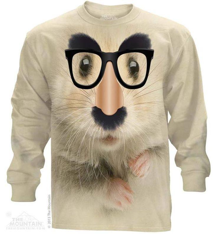 Hamster of Mystery Long Sleeve T-Shirt - Womens Clothing - - Women T-Shirt - T-Shirts for women - Mens Clothing - Mens t-shirts - t-shirt for men - Unisex T-Shirts - Cotton T-Shirts - Long Sleeve T-Shirts - Long Sleeve T-Shirt - Christmas Ideas - Presents for Christmas