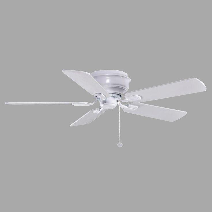 Hampton Bay Hawkins 44 In. Indoor White Ceiling Fan