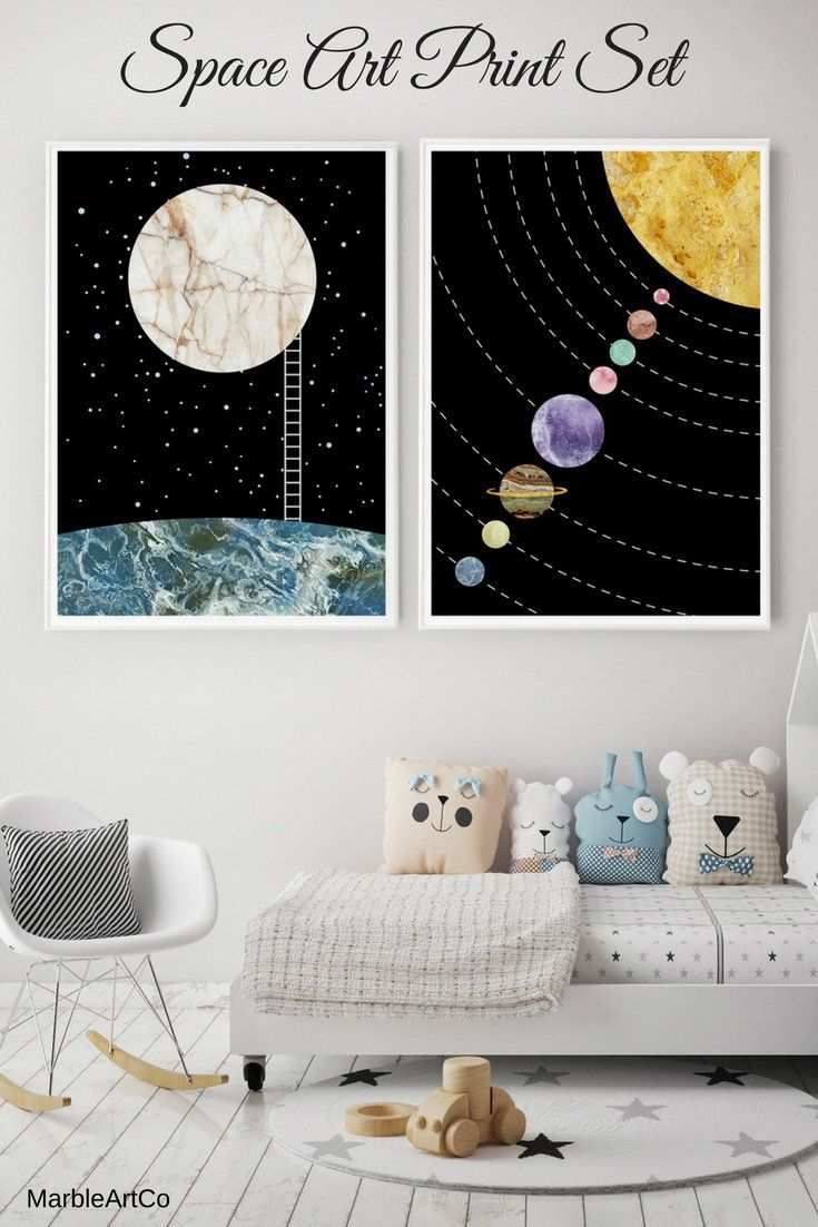 10% Off Moon Poster Set Of 2 For Large Nursery Framed Art Prints, Astronomy Gifts, Night Sky Print, Space Art, Solar System Poster | Check out on MarbleArtCo http://etsy.me/2FoIFOJ #art #print #giclee #housewarming #easter #black #blue #contemporary Large Framed Art Prints