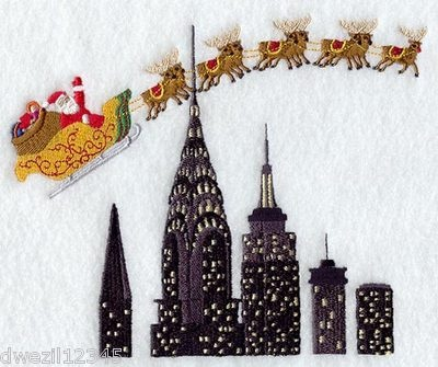 Look what I found on @eBay! SANTA CLAUS AND TEAM OVER NEW YORK - 2 EMBROIDERED http://r.ebay.com/SoGsl2