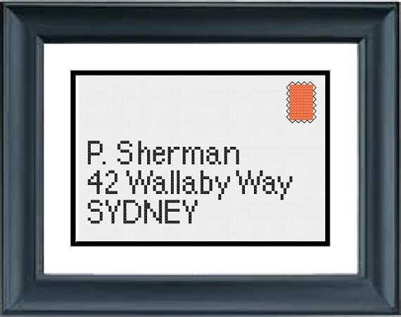 Send to P Sherman Finding Nemo Disney Pixar by PopularStitch