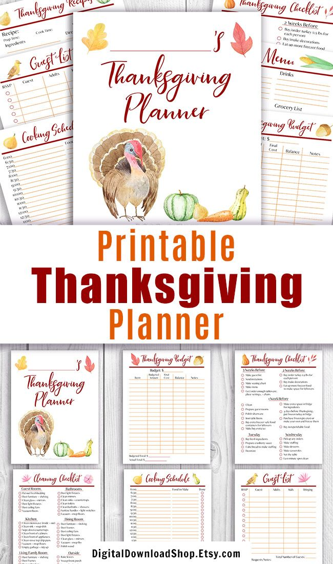 graphic regarding Thanksgiving Planner Printable titled Thanksgiving Planner Printable, Printable Thanksgiving Menu