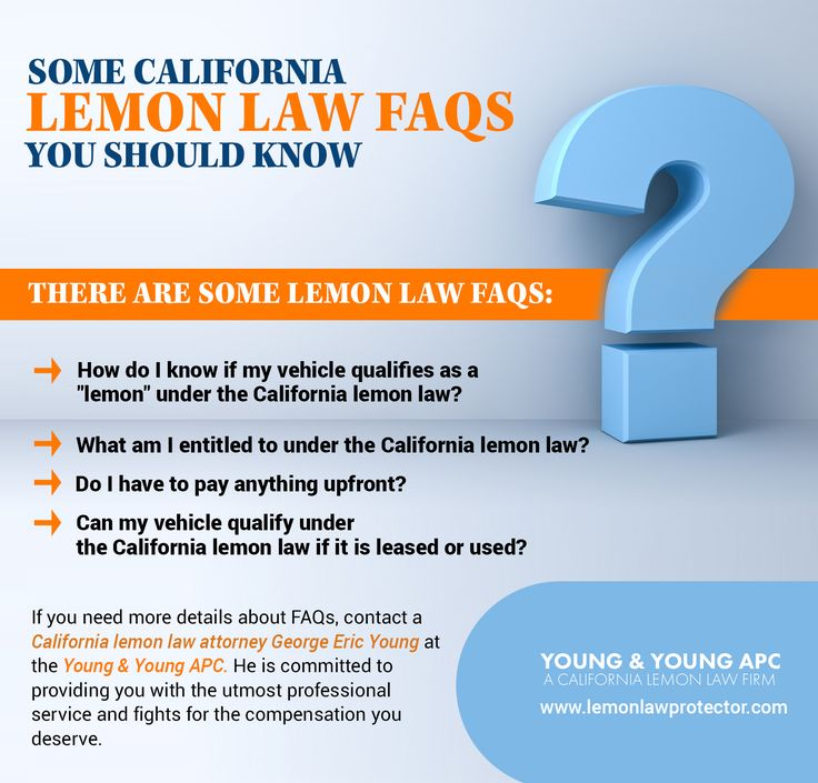 Some California Lemon Law FAQs You Should Know in 2020