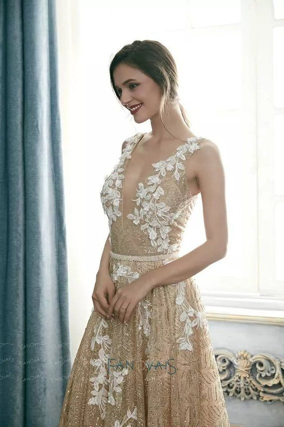 Authentic Is Beautiful A Stunning Gold Boho Wedding Dress With