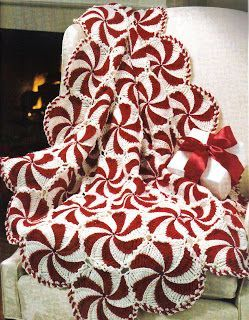 Quirky Artist Loft: Free Pattern: Crochet Peppermint Aftgan... could be adorable in pastel colors for baby...