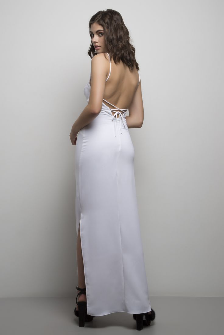 Molly Gown. Ties 5 ways and is available in champagne, black, white, army green, and dusty blue.