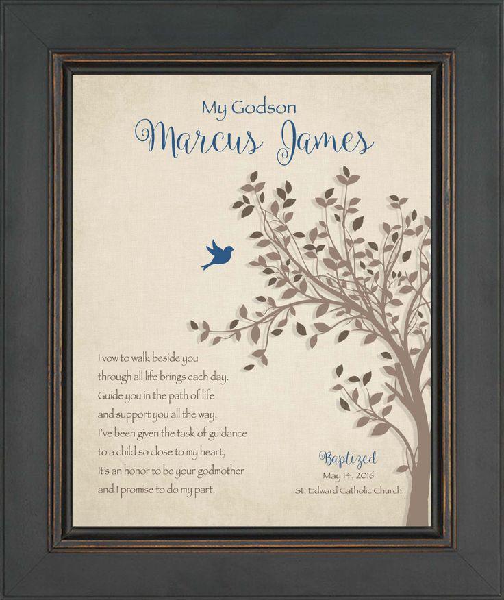 GODSON GIFT  Baptism/Communion Gift  8x10 Print