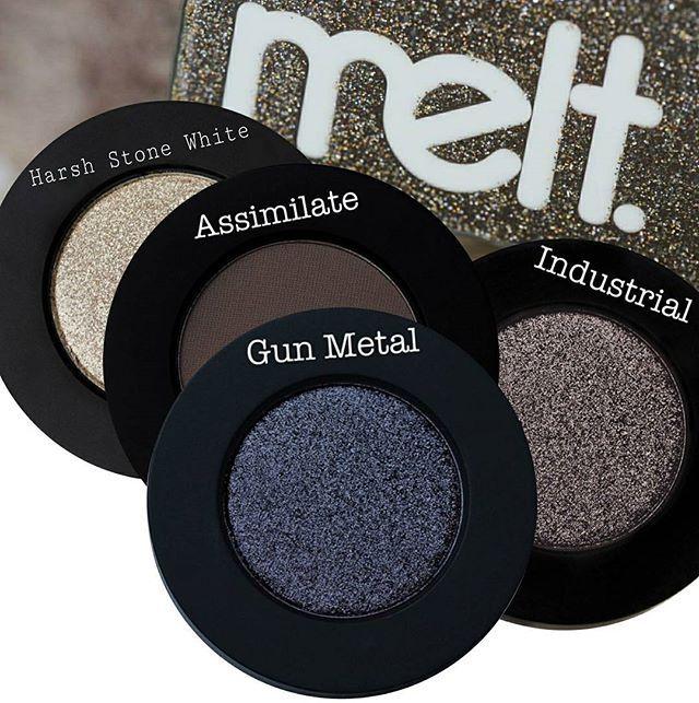 melt cosmetics Gunmetal stack