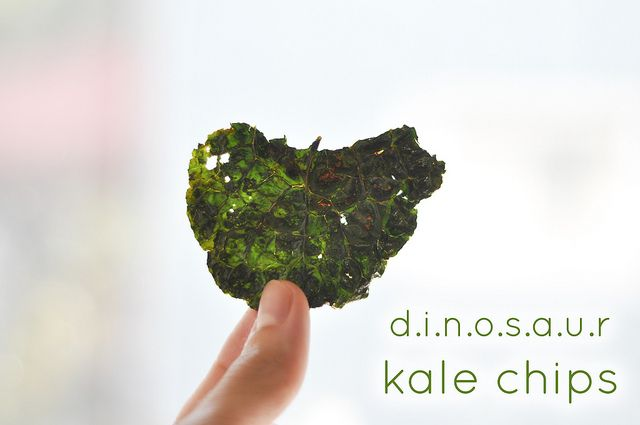 Dinosaur kale chips -- the best-ever recipe using Old Bay seasoning.