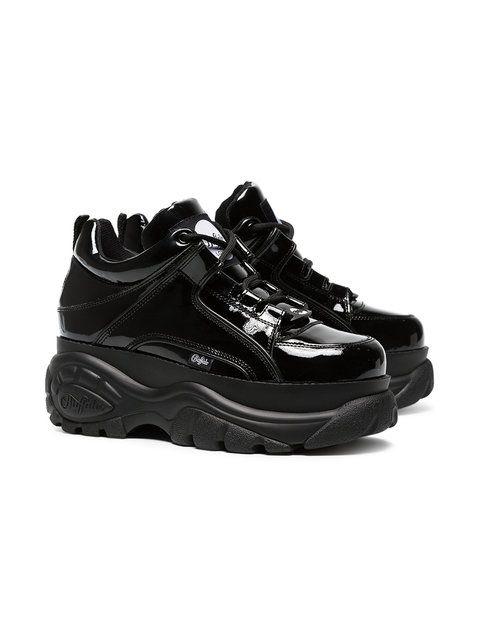 484fd6882b9 Buffalo Black 60 patent leather platform sneakers