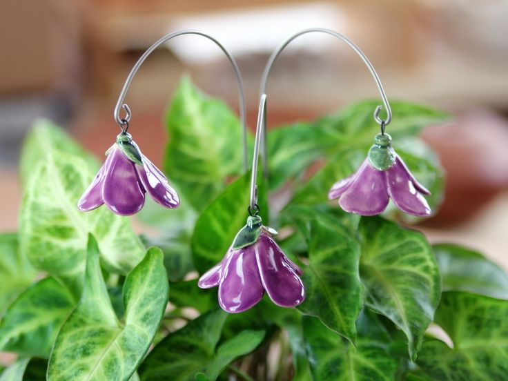Glockenblume, Blumenstecker aus Keramik, ... von karol-art auf DaWanda.com