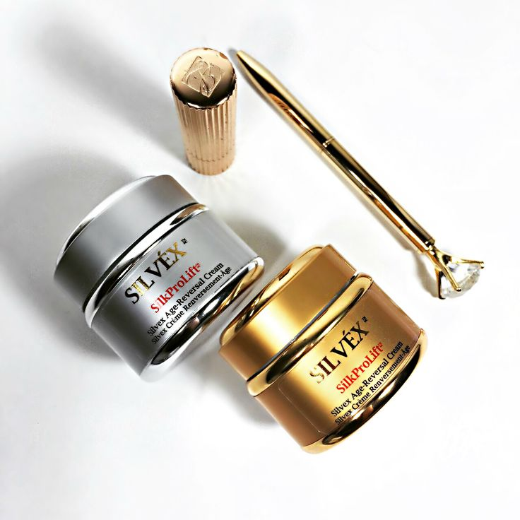 For Beautiful, Glowing and Younger Looking Skin, Use our combination of the Age Reversal Day and Night Creams Combo. Night Cream's advanced formula works while you sleep to promote a Silky-Smooth, Glowing Skin texture by morning. The Day Cream provides protection from environmental factors during the day while providing intense hydration. Reduces visible signs of aging, fine lines and wrinkles.    http://www.silvexcosmetics.com/anti-aging/