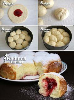 Reçelli Tatlı Ekmek-Buchteln Tarifi