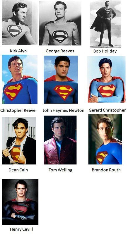 I pick the last one... No One can play Superman like My Henry Cavill