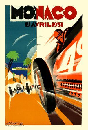 pinterest.com/fra411 #car #poster Monaco Grand Prix, 1931