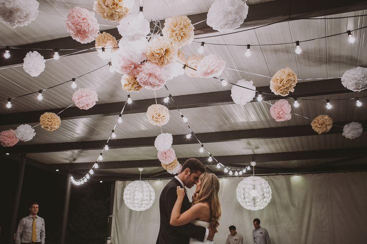 Pompons wedding decoration