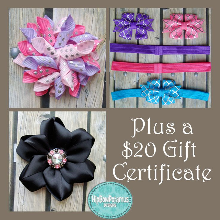 Made in Canada Baby 2015 Giveaway! Mix & Match Set, Pinwheel Flower and a $20 Gift Certificate for Hip-Bow-Potamus Designs
