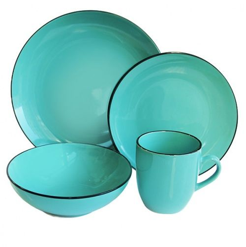 Cute teal dishes