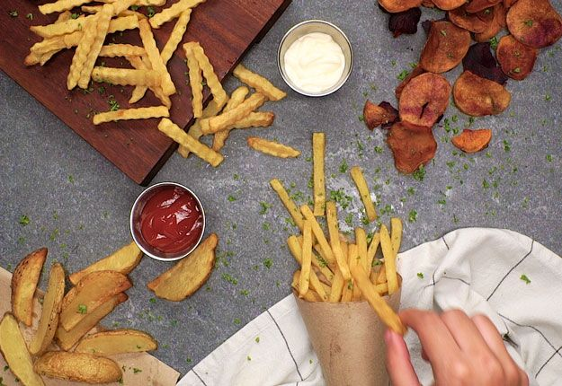 4 Ways To Enjoy French Fries on National French Fry Day   http://homemaderecipes.com/4-french-fries/