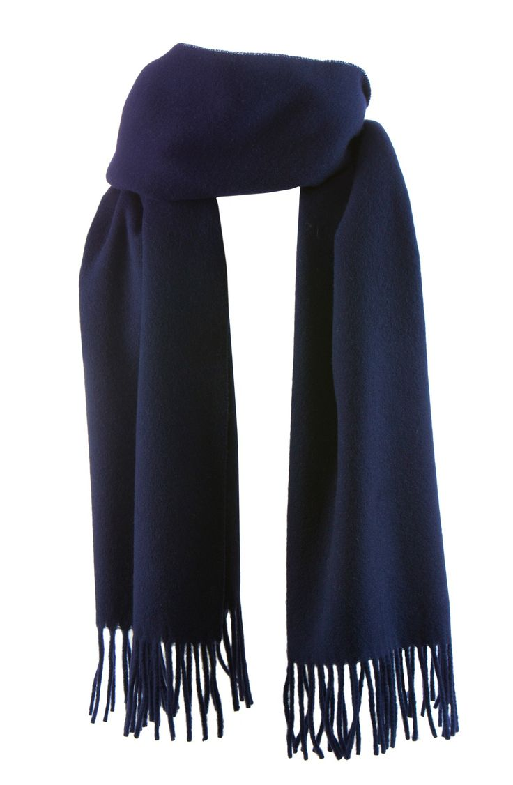 Chamonix scarf, 50x200cm, navy