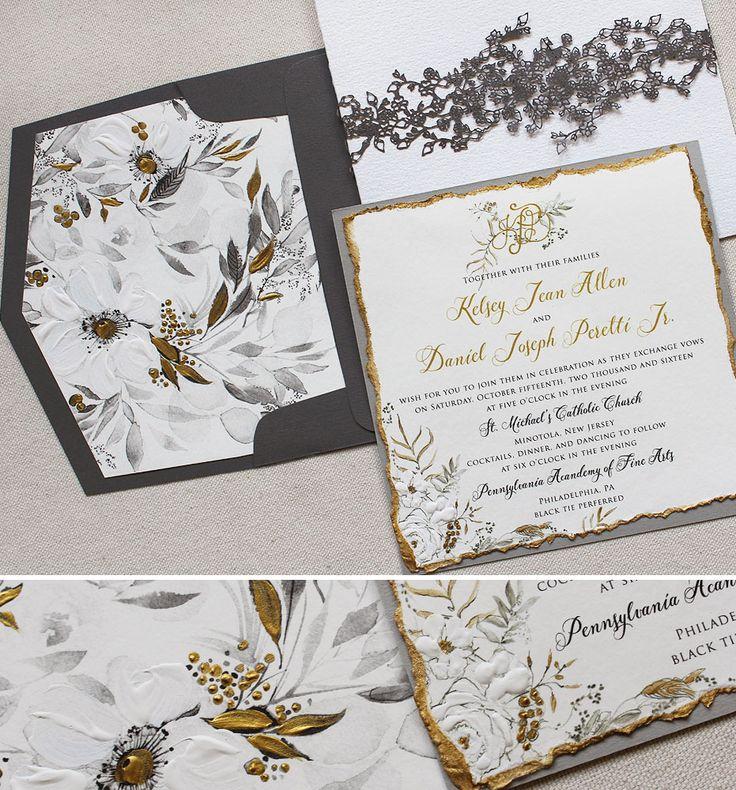 41 best Artistic Black Tie Wedding Invites images on Pinterest