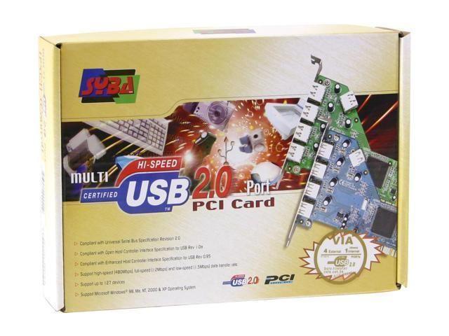 Syba SD-VIA-5U 5-port (4+1) USB 2.0 PCI Card