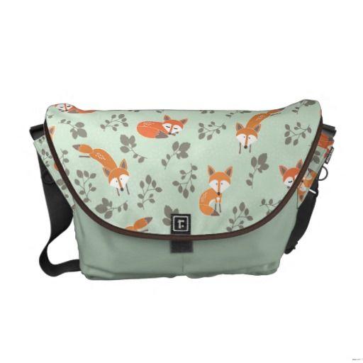 Foxy Floral Messenger Bag