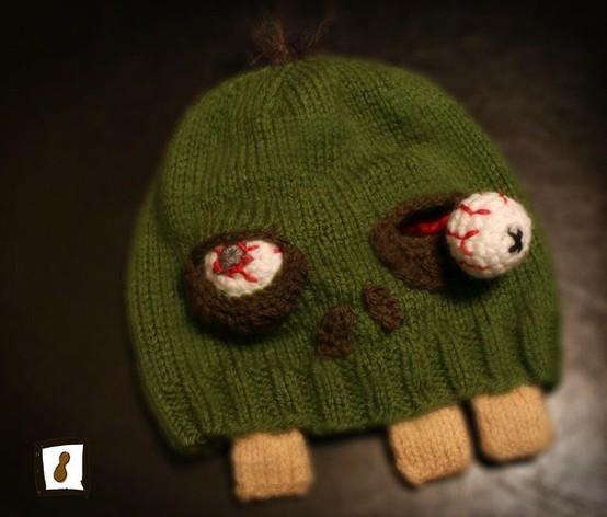 Zombie Beanie: Knits Zombies, Crochetknit Crafty, Gifts Ideas, Custom Zombies, Knits Ideas, Cartoon Zombies, Zombies Hats, Knits Hats, Zombies Beanie