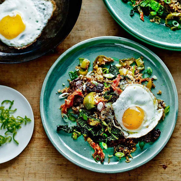 Kimchi met rijst & biefstuk recept - Jamie magazine
