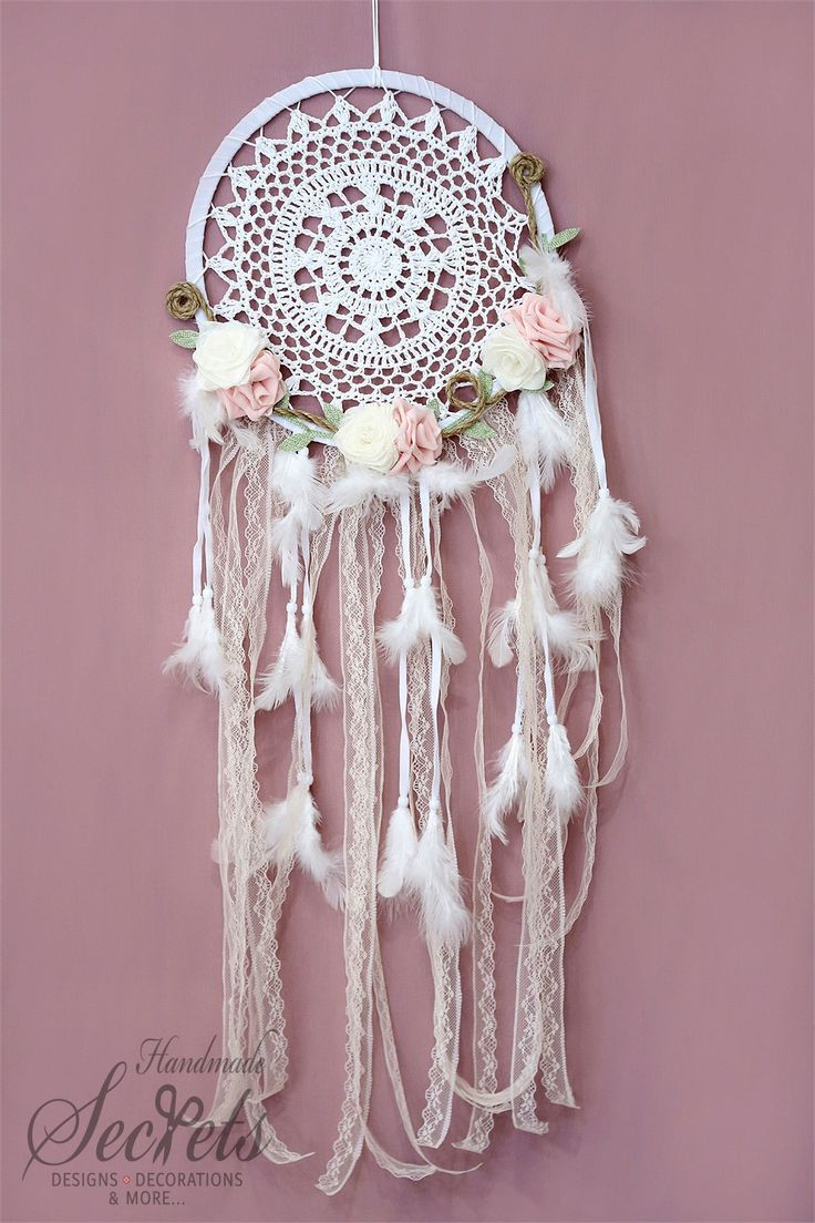 Dreamcatcher Flower Dreamcatcher Boho by AnnasHandmadeSecrets