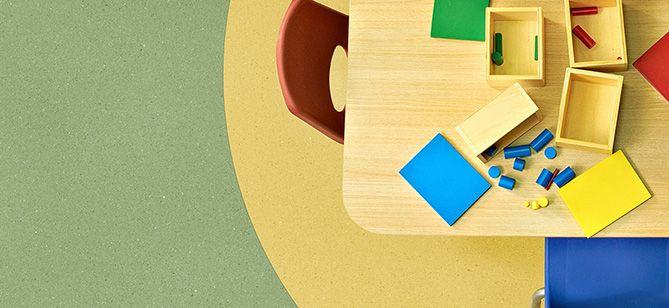 Sanna Weiström has been developing this Zero Sound acoustic flooring.