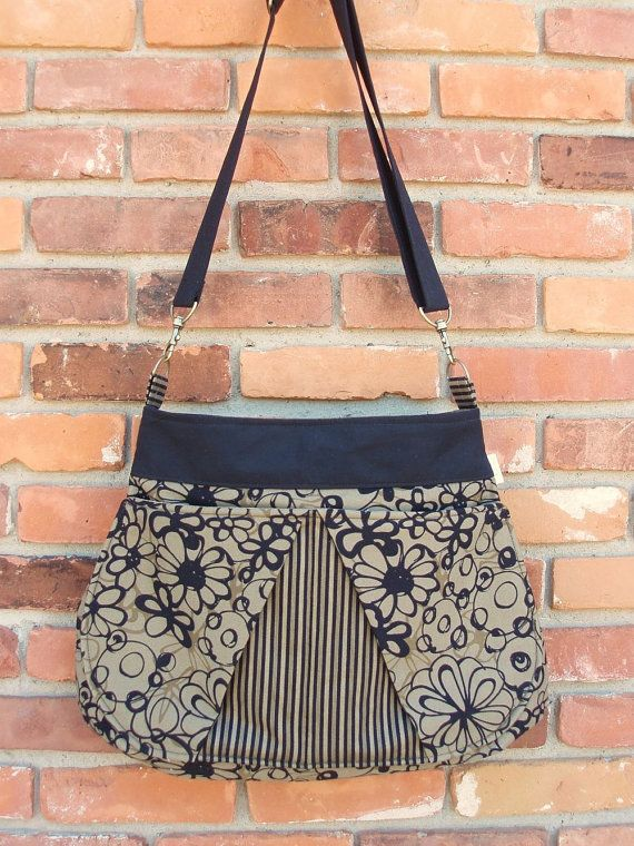 Ready to Ship Cross over shoulder Diaper Bag Tote Bag by 4KidsOnly