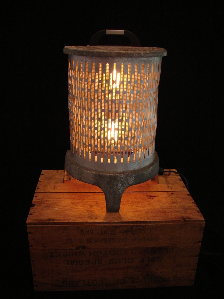 upcycled vintage wesix heater lamp via etsy
