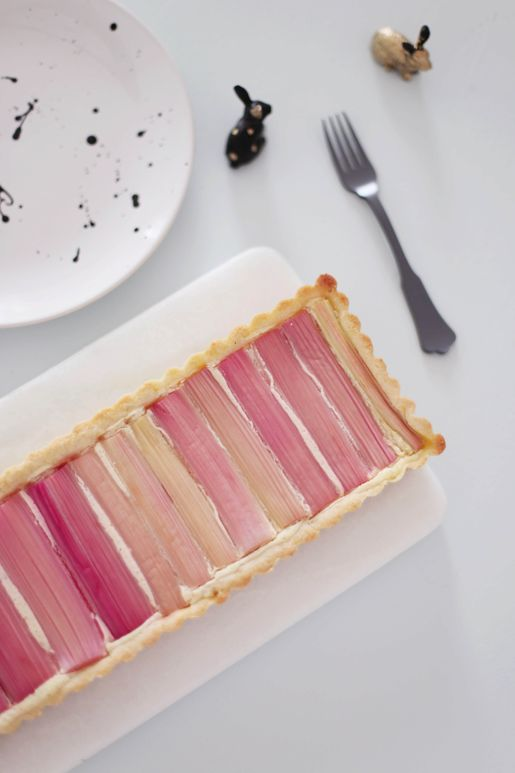 Rhubarb Tart with Ricotta, Ginger and Cardamom Recipe