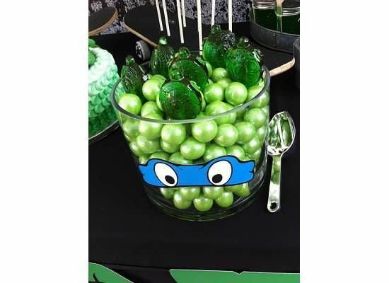 Candy at a Teenage Mutant Ninja Turtle Party #tmnt #partycandy
