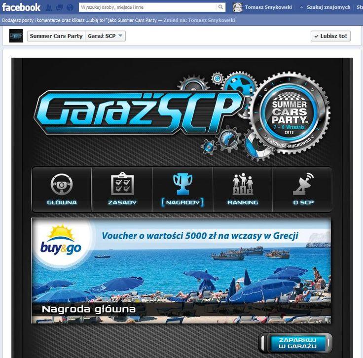 Aplikacja konkursowa na Facebooku Garaż SCP została w całości umieszczona na zakładce profilu Summer Cars Festival, w związku z czym uczestnik nie musi opuszczać fanpage'a, aby wziąć w konkursie udział.