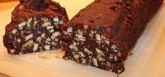 salame di cioccolato  Biscotti secchi (gallette): 300g Cioccolato fondente: 200g Burro: 150g Uova: 2 Zucchero: 100g Rum: 1 cucchiaio