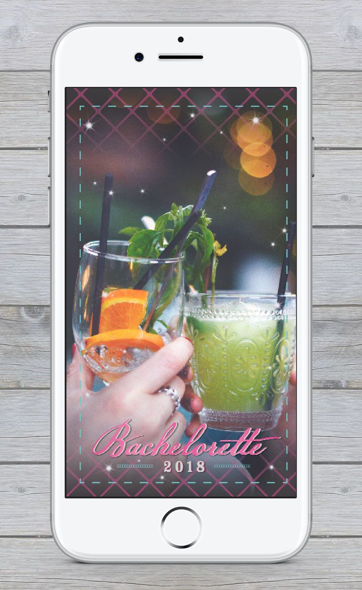 Make sure you remember your Bachelorette party by getting a custom designed Snapchat Geofilter! We create beautiful designs based on your unique needs! #bride #bachelorette #bacheloretteparty #wedding #geofilter #snapchat #snapchatfilter