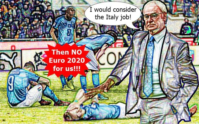 Claudio Ranieri Says He Would Consider Italy Job #Ranieri #Italy #Ventura #Sweden #ItalySweden #Euro2020 #WorldCup #WorldCup2018 #WC2018 #Messi #Neymar #Ronaldo #CR7 #Totti #Buffon #PremierLeague #Jokes #Comic #Laughter #Laugh #Football #FootballDroll #Funny #EPL #PL #Arsenal #Liverpoo #Chelsea #ManCity #ManUtd #ChampionsLeague #UCL #Mourinho
