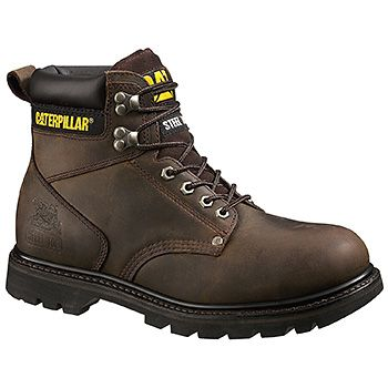 Caterpillar Second Shift Steel Toe (men's) - Dark Brown Big Horn